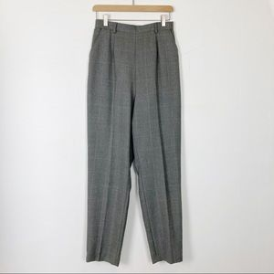 Vintage high waisted mom pants trousers grey pink